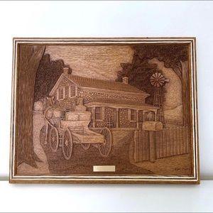 The Century Home Vintage Wooden Carved Art Frame